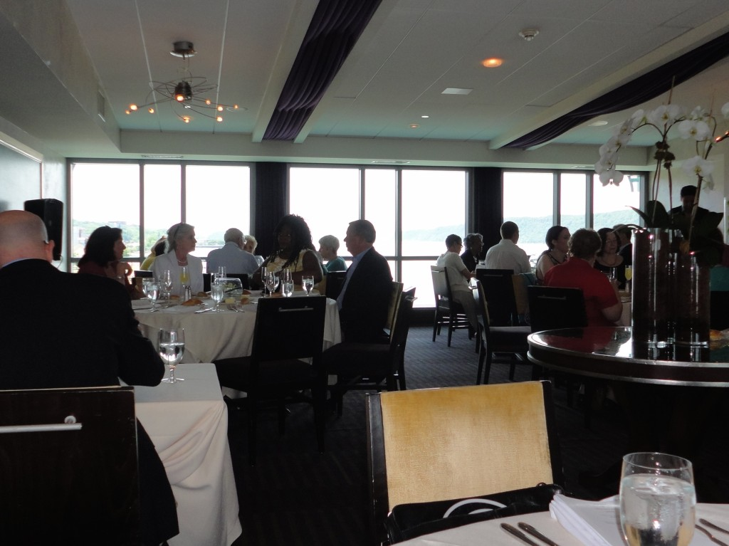 Members enjoyed the excellent cuisine at X2O