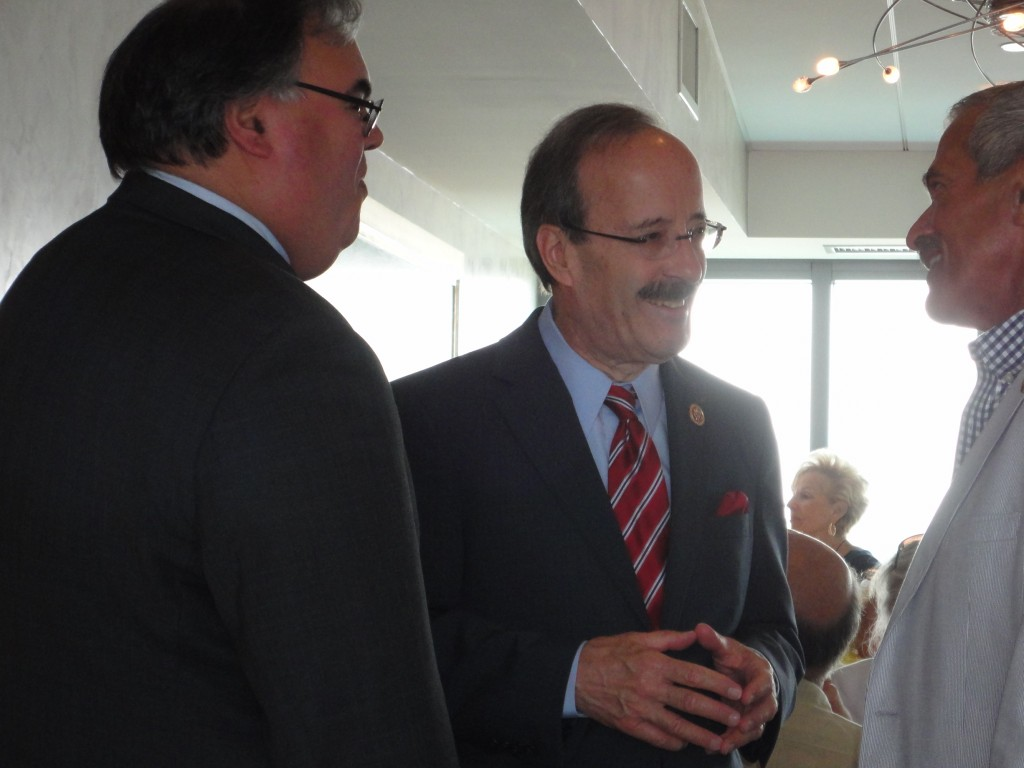 Congressman Engel and Chief of Staff William F. Weitz shared a light moment with ARC President Budihas